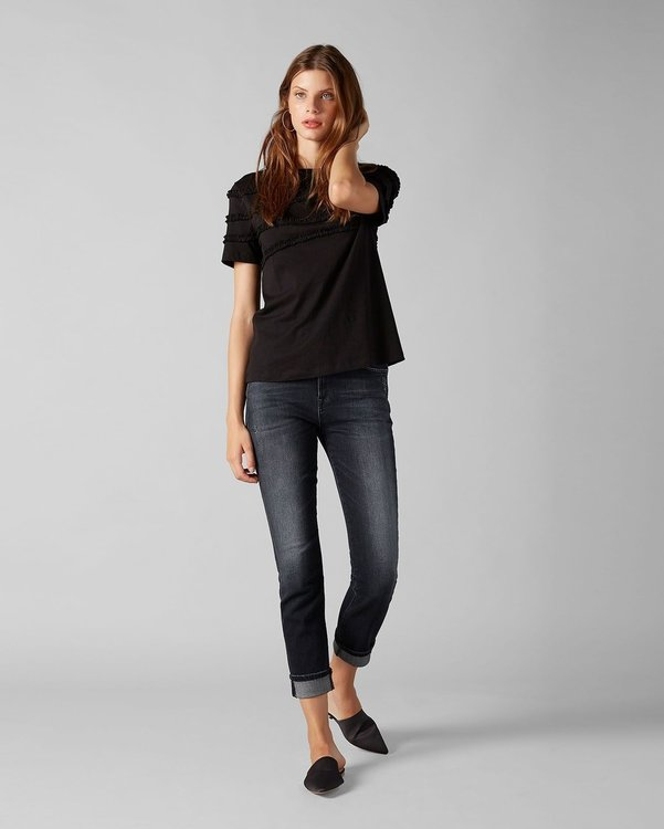 SEVEN FOR ALL MANKIND RELAXED SKINNY SLIM ILLUSION