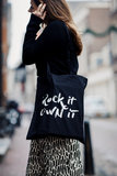 Shopper Canvas Rockin'Items Black Edition_
