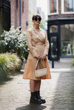 MOSS COPENHAGEN DRESS CAMEL_