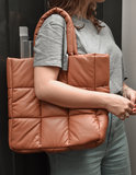 Stand Studio Assante Faux Leather puffy bag Tan_