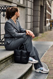 Stand Studio Rosanne Faux Leather puffy bag zwart_
