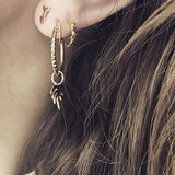 STINEA TINSEL CREAOL EARRING GOLD_