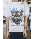ANINE BING TIGER TEE WHITE_