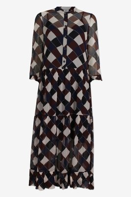 BAUM UND PFERDGARTEN ALEXONDRA DRESS BROWN NAVY
