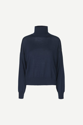 SAMSOE & SAMSOE KLEO TURTLENECK BASIS TRUI NAVY