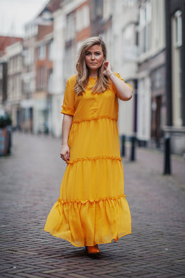 BRUUNS BAZAAR MARIE SILJE YELLOW DRESS