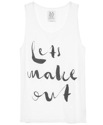 ZOE KARSSEN LET'S MAKE OUT BOYFRIEND TEE