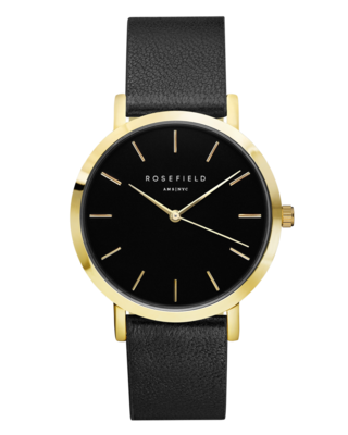 ROSEFIELD WATCH THE CRAMERCY BLACK BLACK GOLD
