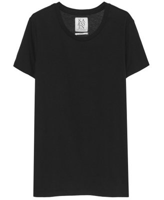 ZOE KARSSEN BASIC LOOSE FIT TEE BLACK