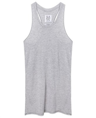 ZOE KARSSEN BASIC FIT RACER TANK GREY