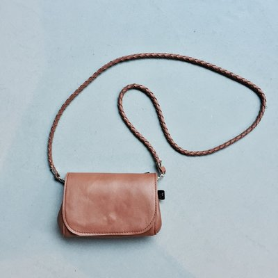 Small Rockin' Items Bella Bag Cognac vlecht hengsel
