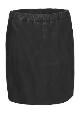 IBANA BLACK LEATHER SKIRT SHIVER