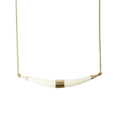 MIMI ET TOI TUSK RESIN WHITE NECKLACE