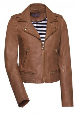 IBANA LEATHER JACKET CARAMEL CARAMEL