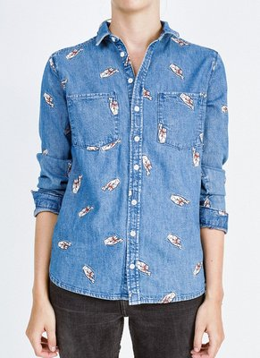 ZOE KARSSEN FINGERS CROSSED CLASSIC SHIRT