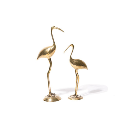 A-La  Crane Birds set Brass