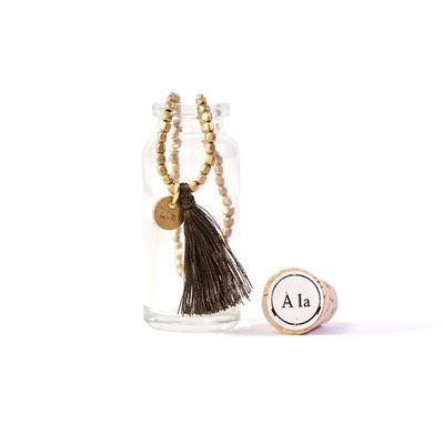 A-La  Amoda Good Luck Bracelet in Bottle Army Green