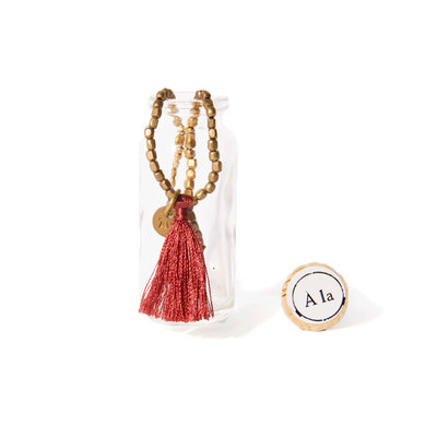 A-La  Amoda Good Luck Bracelet in Bottle  Red