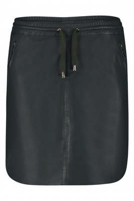 IBANA GREEN LEATHER SKIRT MESSA FOREST