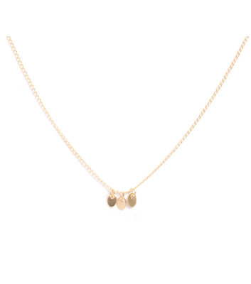 GOLD NECKLACE MIAB OVAL MIDDLE