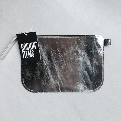 Rockin' Items Clutch Metallic Silver