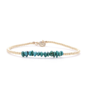 GOLD BRACELET MIAB TURQUOISE CHIPS