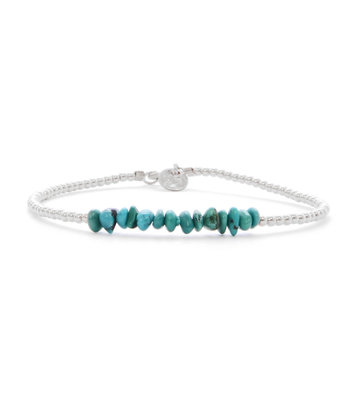 SILVER BRACELET MIAB TURQUOISE CHIPS