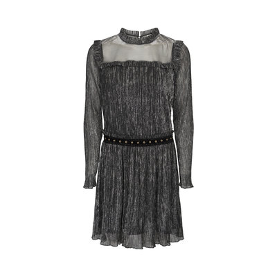 SOFIE SCHNOOR  DRESS BLACK SILVER