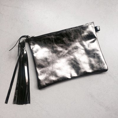 Rockin' Items Party Clutch Donker Metallic