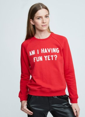ZOE KARSSEN AM I HAVING FUN SWEATER