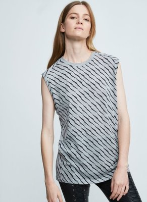 ZOE KARSSEN SCRATCH ALL OVER LOOSE FIT TANK