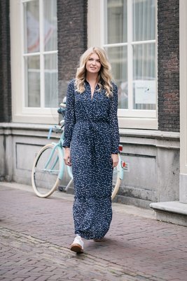 ANOTHER LABEL MAXI DRESS FLOWER NAVY