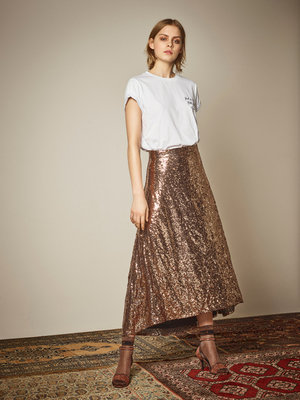 GESTUZ TITO LONG SKIRT COPPER