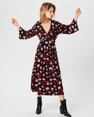 MOSS COPENHAGEN KITTA ADELA WRAP DRESS