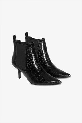 ANINE BING STEVIE BOOTS BLACK CROCO
