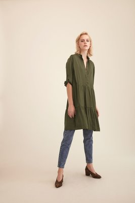 GESTUZ IBALA DRESS OLIVE