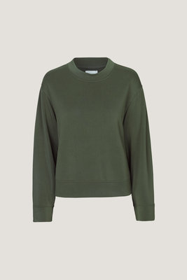 SAMSOE & SAMSOE SWEATER SIDE CREW SWEATER