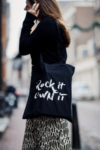 Shopper Canvas Rockin'Items Black Edition