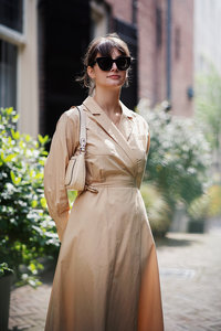 MOSS COPENHAGEN DRESS CAMEL