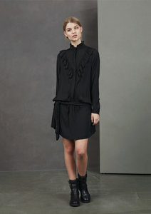 SOFIE SCHNOOR BLACK BLOUSE DRESS