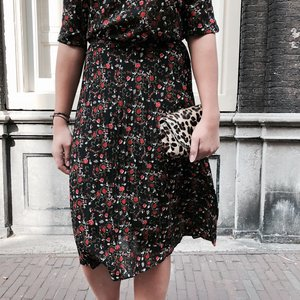 ANOTHER LABEL FLOWER SKIRT MARGIE